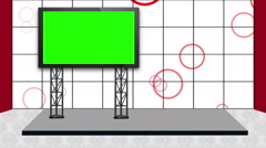 Green Screen Virtual set 001 - stock footage