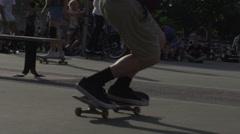 Extreme Skateboard Trick  Stock Footage