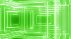 abstract line motion music background LOOP rotating 360 Green - stock footage