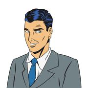 man with jacket and tie - stock illustration