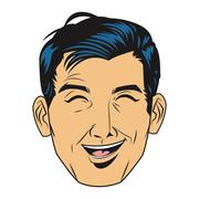 man laughing icon - stock illustration