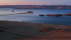 Panoramic view of islands of lake Baikal Stock Footage