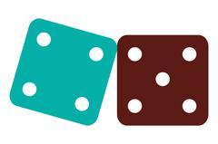 Pair of dice icon Stock Illustration