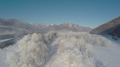 Sorachi river in winter Stock Footage