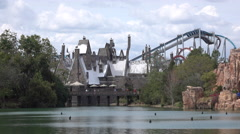 Harry Potter Hogesmeade Area Of Universal Studios Theme Park Florida 4K Stock Footage