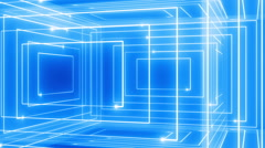 abstract line motion music background LOOP rotating 360 blue - stock footage