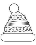 winter hat icon - stock illustration