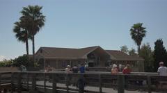 Manatee Viewing Center Apollo Beach Florida 4K Stock Footage