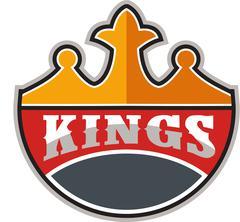 King Crown Kings Retro - stock illustration