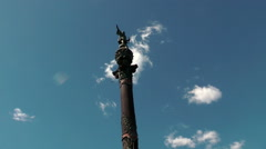Christopher Columbus monument in Barcelona, close-up Stock Footage