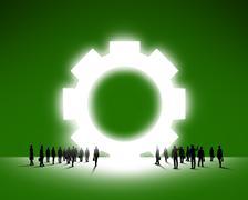 Concept of teamwork organization Stock Illustration