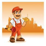 Plumbing service. Plumber cartoon design. vector graphic - stock illustration