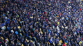 Thousands of people watching football match at stadium, big sporting event HD Footage