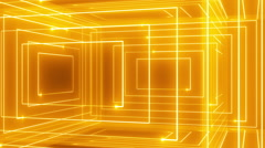 Abstract line motion music background LOOP rotating 360 Orange Stock Footage