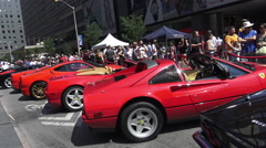 Motor enthusiasts flock to the Yorkville Exotic Car Show in Toronto June 2016 Stock Footage