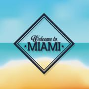 Beach and Sea icon. Miami florida design.Vector graphic - stock illustration