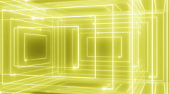 abstract line motion music background LOOP rotating 360 Yellow - stock footage