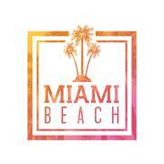 Palm tree icon. Miami florida design.Vector graphic Stock Illustration