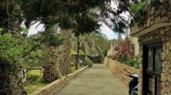 Entrance in the garden, Porto Santo Stock Footage