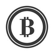 Coin icon. Bitcoin design. vector graphic Stock Illustration