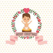 Baby jesus icon. Merry Christmas design. Vector graphic - stock illustration