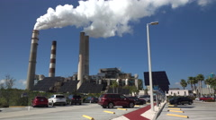 Big Bend Coal Fired Power Plant Apollo Beach Tampa Florida 4K Stock Footage