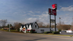 Corbin Kentucky Birthplace Of Kentucky Fried Chicken Stock Footage