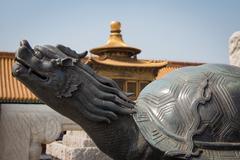 Dragon Turtle Statue Stock Photos