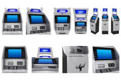 Set ATM terminal Stock Illustration