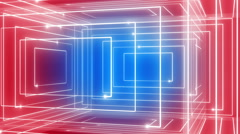 Abstract line motion music background LOOP rotating 360 Blue-red Stock Footage