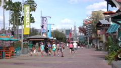 City Walk At Universal Studios Orlando Florida 4K UHD - stock footage