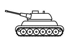 Tank icon. Armed forces design. graphic vector Stock Illustration