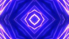 Kaleidoscope Abstract Disco Dance Lights Background, Loop, 4k - stock footage