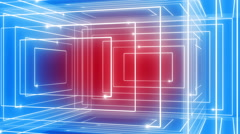 abstract line motion music background LOOP rotating 360 Red-blue - stock footage