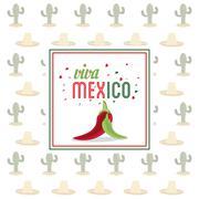 pepper icon. Mexico culture. Vector graphic - stock illustration