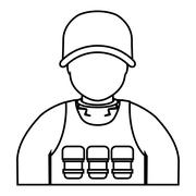 Soldier icon. Armed forces. vector graphic Stock Illustration