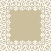 Floral Vector Fine Frame - stock illustration