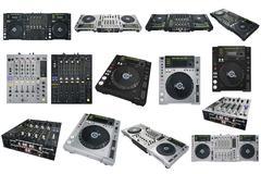 Set Dj musical equipment Stock Illustration