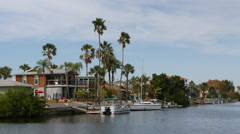 Hernando Beach Waterfront Homes Florida 4K UHD Stock Footage