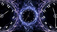 Clocks and Fibers Form Ring, Time Concepts Background, Loop, 4k Stock Footage