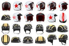 Set motorcycle helmets Stock Illustration