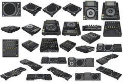 Set table dj equipment Stock Illustration