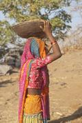 RAJASTHAN, INDIA - NOVEMBER 16: Female Laborer Stock Photos
