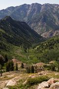 Mountains, Big Cottonwood Canyon, Salt Lake City, Utah Stock Photos