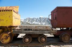Independence Mine State Historical Park, Hatcher Pass, Matanuska Valley, Palmer, - stock photo