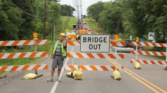 bridge under construction - stock footage