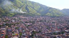 Aerial Bangu (west zone) neighbourhood Rio de Janeiro Stock Footage