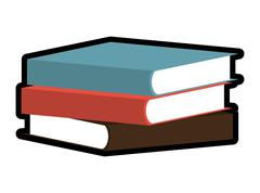 Book icon. Reading concept. Vector graphic Stock Illustration