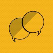 Communication design. bubble icon. Flat illustration, vector gra - stock illustration
