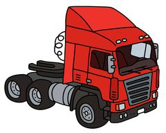 Red towing truck Stock Illustration